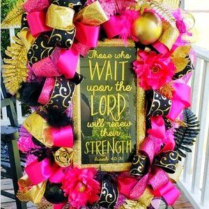 Religious inspired wreath